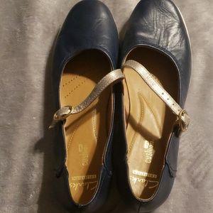 Clarks soft cushion Mary Jane type shoe